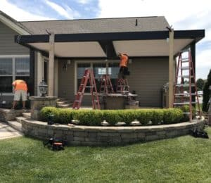 16'x24' Arcadia louvered roof