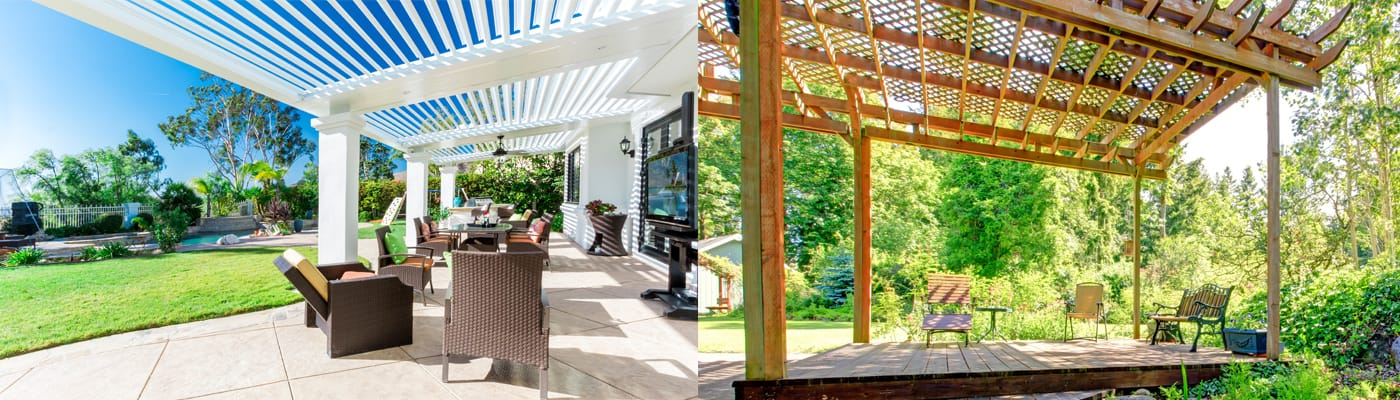 StruXure Pergola vs traditional pergola