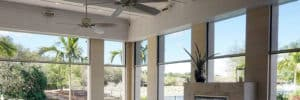 Protect your patio from wind, sun, and rain with a motorized Progressive Screen