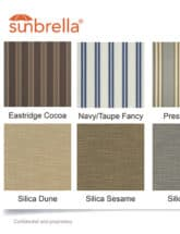 Garber Sunbrella Color Sheet